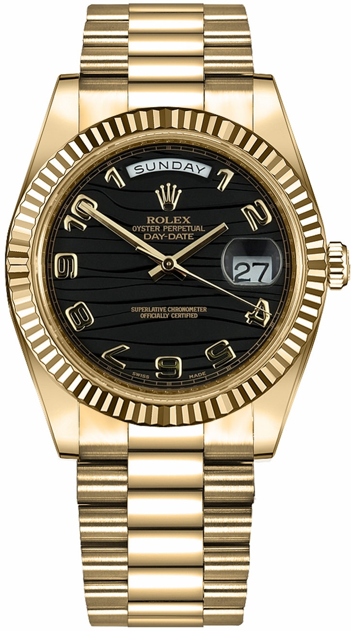 218238-BLKWAP | Rolex Day-Date 41 | Luxury Watches