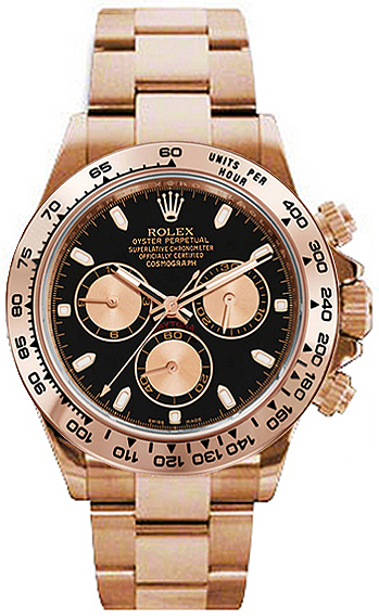 116505 rolex cosmograph daytona 18 carat rose gold mens watch