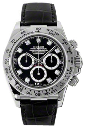 Breitling Watches For Sale >> 116519 Rolex Daytona Black Diamond Dial Mens Chronograph ...
