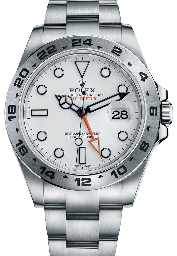 216570 WHITE | Rolex Explorer II | AuthenticWatches.com
