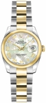 Rolex Lady-Datejust 26 Mother of Pearl Roman Numeral Watch 179163