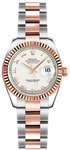 Rolex Lady-Datejust 26 White Roman Numeral Dial Watch 179171