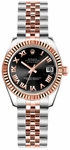 Rolex Lady-Datejust 26 Black Dial Women's Watch 179171