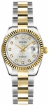 Rolex Lady-Datejust 26 Silver Dial Women's Watch 179173