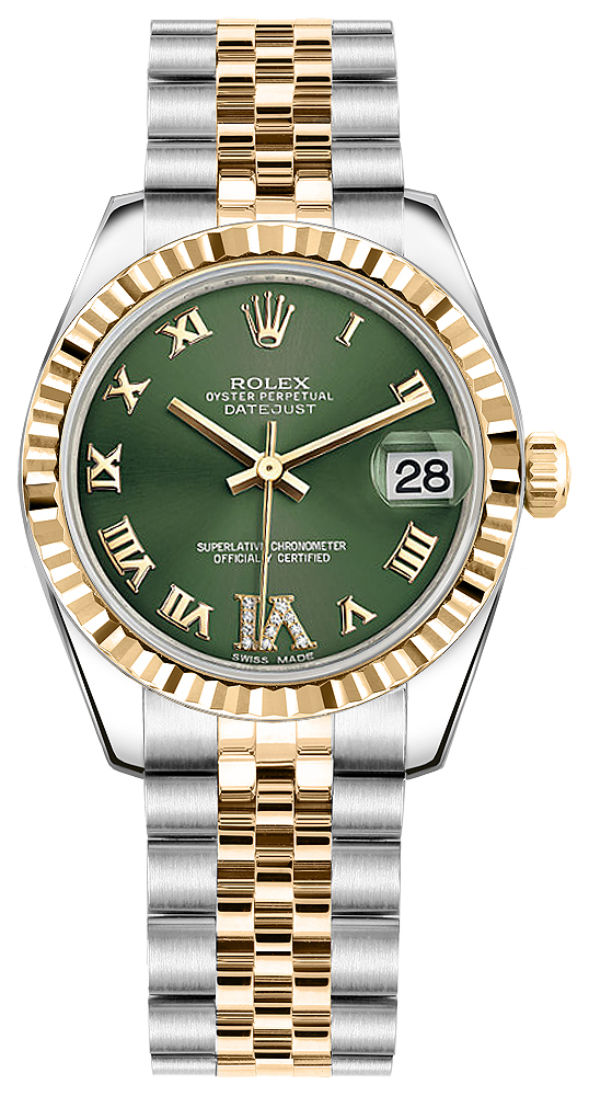 Rolex lady datejust 31 178273 two tone jubilee chronometer womens watch for Rolex date just 31