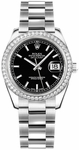 Rolex Datejust 31 Women's Black Dial Watch 178384