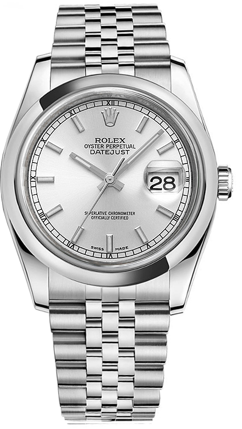 116200 slvsj rolex datejust 36 mens for Rolex date just 36