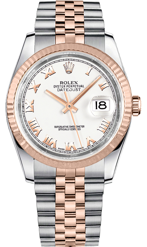 116231 Whtrj Rolex Luxury Watch