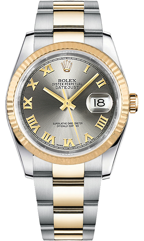 116233 stlro rolex datejust 36 mens watch for Rolex date just 36