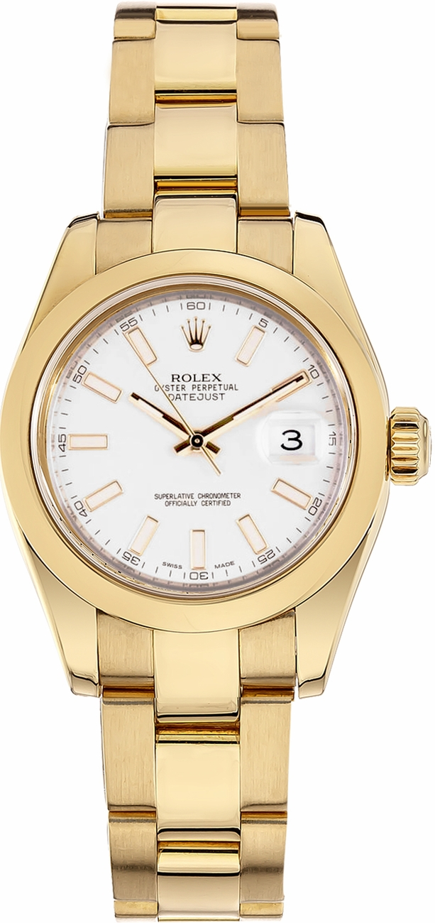 rolex oyster perpetual datejust lady 179168 womens 26mm solid gold automatic watch. Black Bedroom Furniture Sets. Home Design Ideas