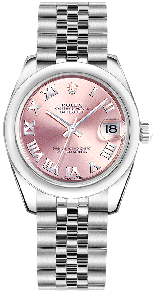 178240 rolex datejust lady 31 pink watch for Rolex date just 31
