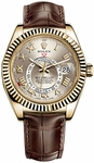 Rolex Sky-Dweller Gold Watch 326138