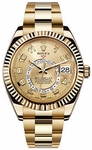 Rolex Sky-Dweller Men's Gold Watch 326938