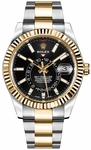 Rolex Sky-Dweller Black Dial Men's Watch 326933