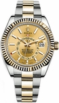 Rolex Sky-Dweller Champagne Dial Men's Watch 326933