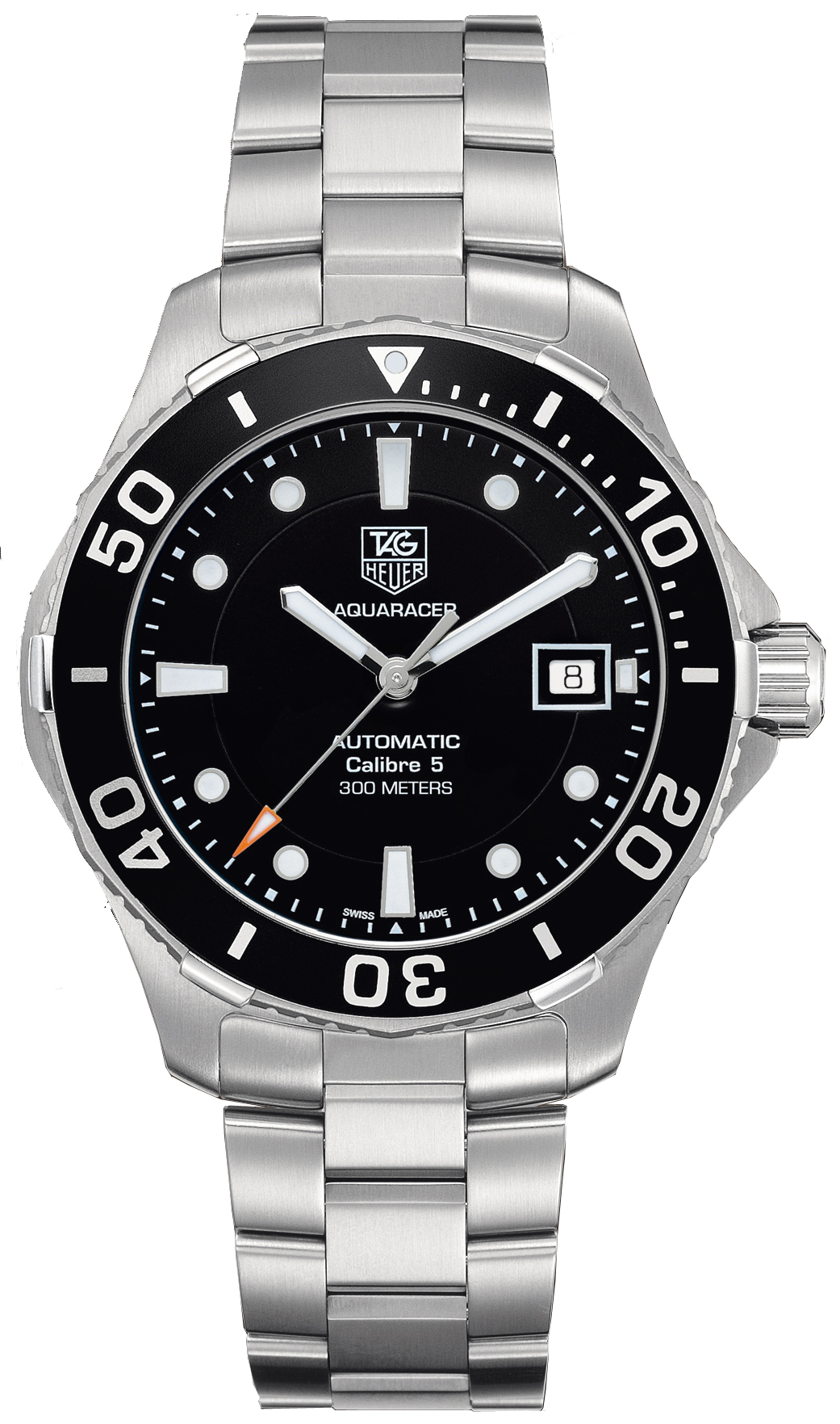 Wan2110 ba0822 tag heuer aquaracer cal 5 300m mens automatic watch for Tag heuer automatic