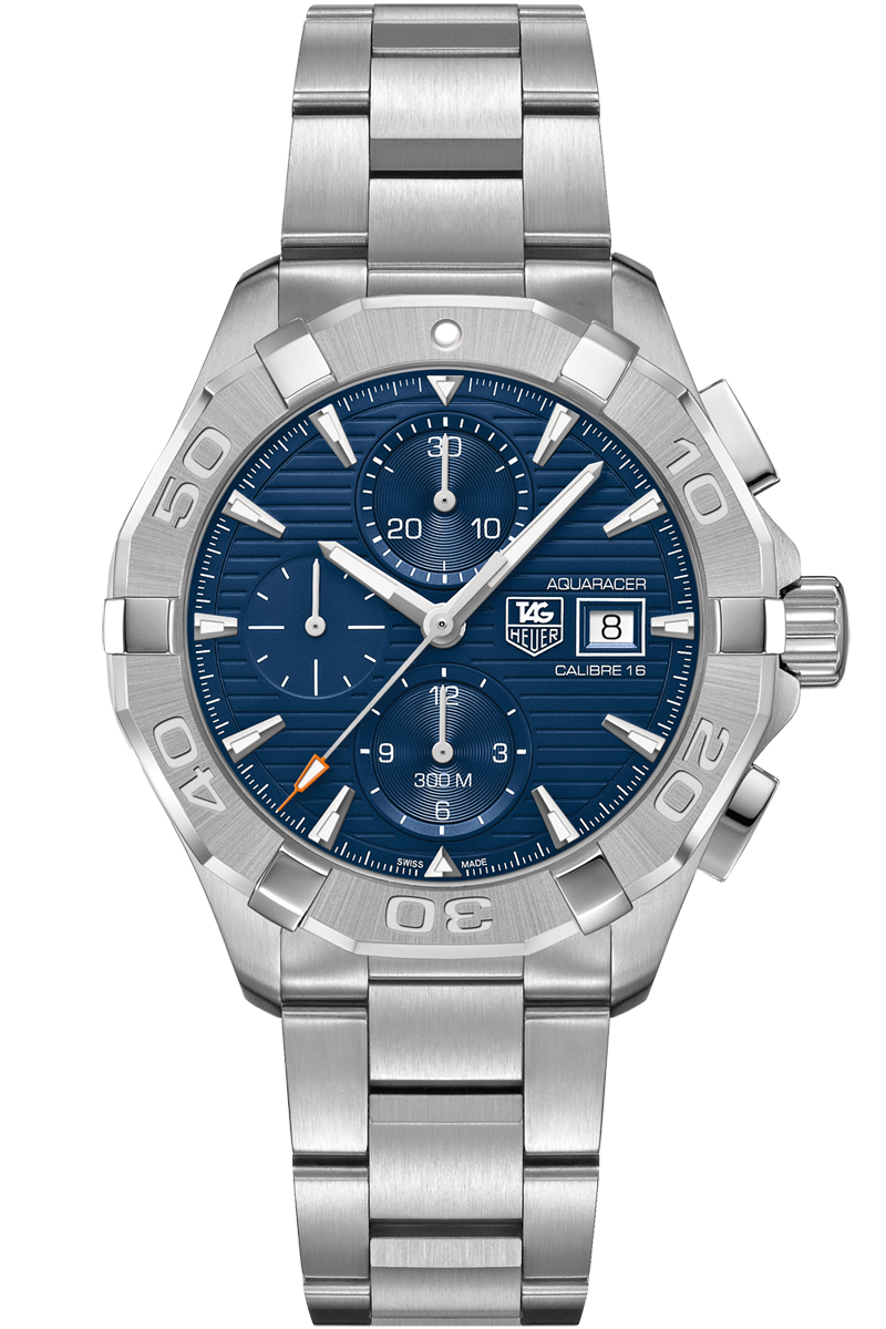 Cay2112 ba0927 tag heuer aquaracer mens 43mm automatic chronograph watch brand new for Tag heuer aquaracer 300m