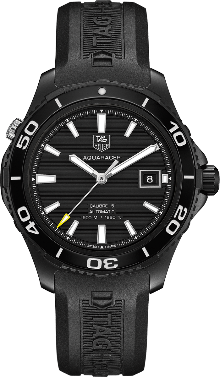 Wak2180 ft6027 tag heuer aquaracer cal 5 500m mens automatic watch for Tag heuer automatic