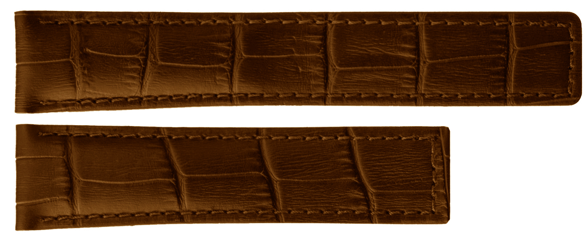 Image of TAG Heuer Carrera 19mm Brown Alligator Strap FC6181