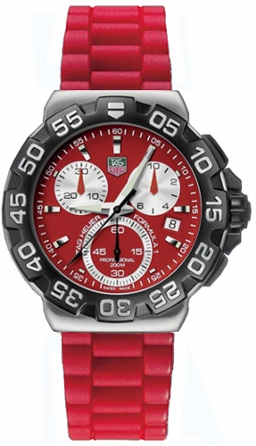 Tag Heuer Formula 1 Chronograph >> CAH1112.BT0706 TAG Heuer Formula One F1 Mens Red Dial ...