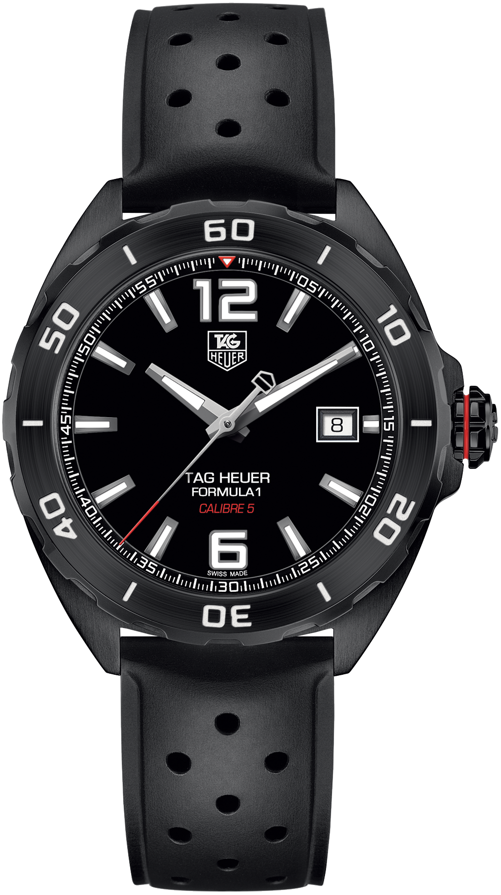 waz2115 ft8023 tag heuer formula one mens black automatic. Black Bedroom Furniture Sets. Home Design Ideas