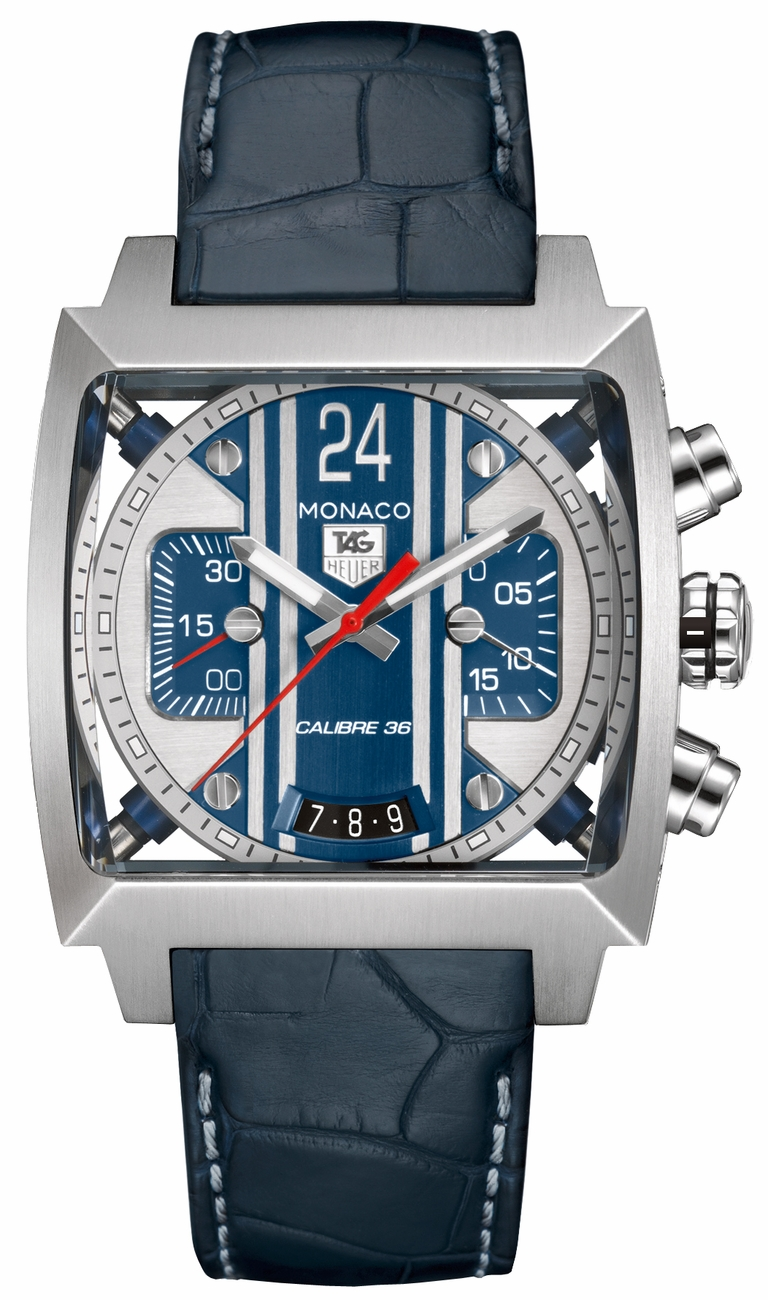 cal5111 fc6299 tag heuer monaco 24 le mans limited edition steve mcqueen watch. Black Bedroom Furniture Sets. Home Design Ideas