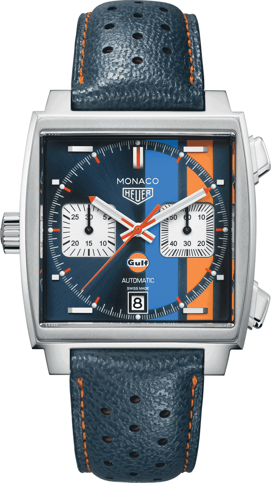 caw211r fc6401 tag heuer monaco gulf men 39 s watch. Black Bedroom Furniture Sets. Home Design Ideas