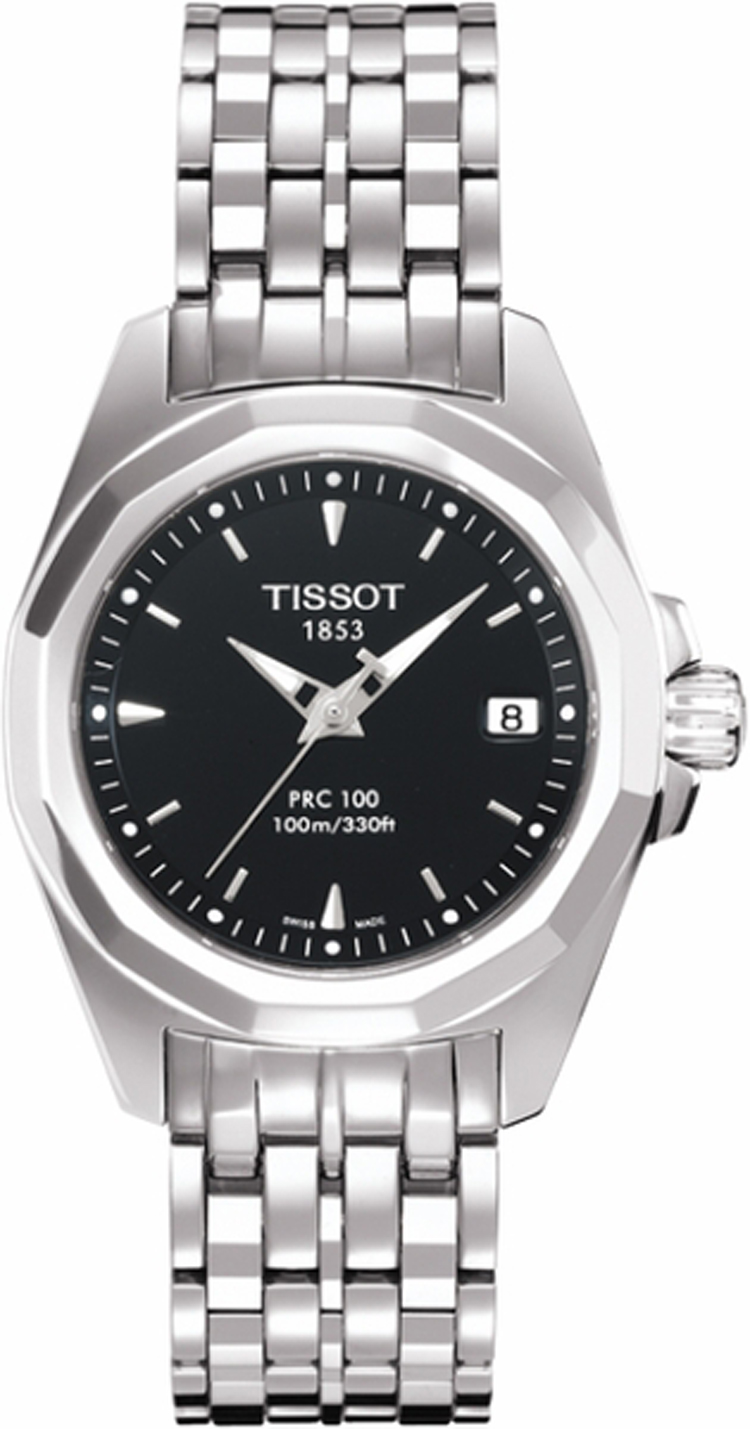 T008 010 11 051 00 Prc 100 Black Dial Stainless Steel
