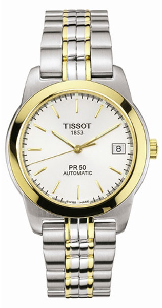 Best Extended Auto Warranty >> T34248331 Tissot T-Classic PR50 Two Tone Gold & Steel Mens Auto Watch