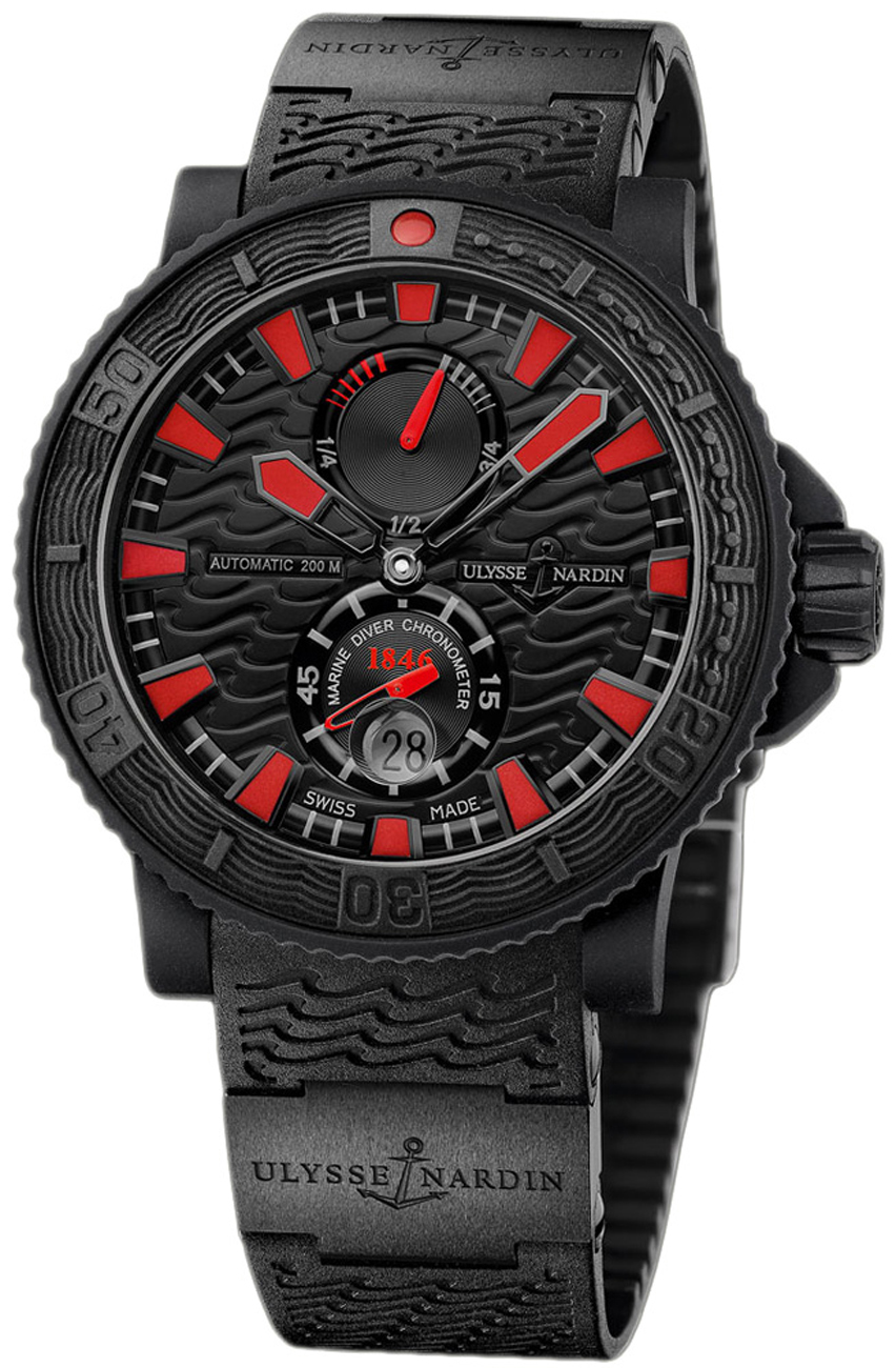 NEW Ulysse Nardin Marine Black Sea Chronometer 263-92-3C ...