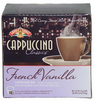 LAND O LAKES® Cappuccino Single Serve - French Vanilla 18 Cup Box