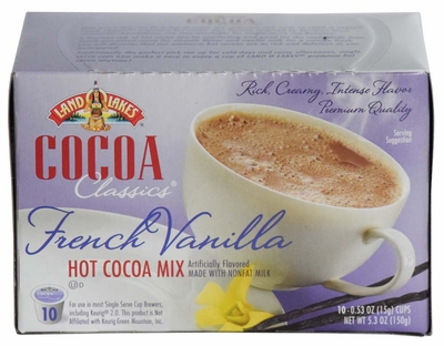 LAND O LAKES® Cocoa Single Serve - French Vanilla 10 Cup Box