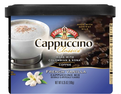 Land O Lakes® French Vanilla Cappuccino Canister 6 Count Case
