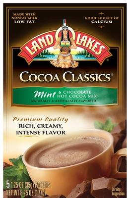 LAND O LAKES® Mint & Chocolate Cocoa Classics® 5 Packets 12 Count Case