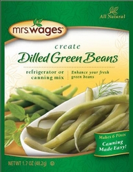 Mrs. Wages® Dilled Green Beans Refrigerator or Canning Mix Case