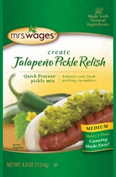 Mrs. Wages® Medium Jalapeño Pickle Relish Case