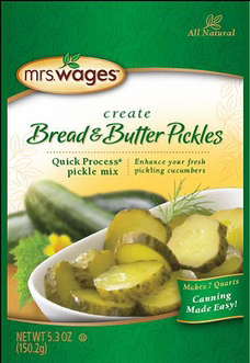Mrs. Wages® Quick Process Bread & Butter Pickle Mix Case