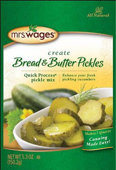 Mrs. Wages® Quick Process Bread & Butter Pickle Mix