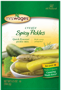 Mrs. Wages® Quick Process Spicy Pickle Mix- Medium Case