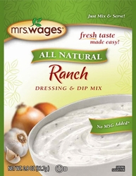 Mrs. Wages® All Natural RANCH Dressing & Dip Mix