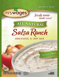 Mrs. Wages® All Natural SALSA RANCH Dressing & Dip Mix Case