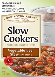 Orrington Farms® Vegetable Beef Stew Slow Cookers Mix 12 Pouches/Case