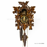 1 Day Black Forest Walnut Colored Carved Cuckoo Clock By Hones