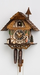 1 Day Chalet Black Forest Cuckoo Clock with Bell Ringer by Hones