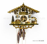 1 Day Musical Bavarian Chalet Cuckoo Clock with Beer Drinker in Biergarten By H�nes