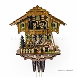 1 Day Musical Black Forest Chalet Cuckoo Clock with Kissing Lovers By H�nes