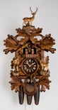 8 Day Musical Black Forest Traditional Carved Hunter Cuckoo Clock By H�nes