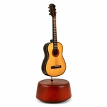 Amazing 18 Note Miniature Acoustic Guitar with Rotating Musical Base