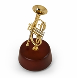 Amazing 18 Note Miniature Cornet (Trumpet-like) with Rotating Musical Base