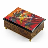 "Artistic 18 Note ""Rainbow Dance"" Italian Musical Jewelry Box"